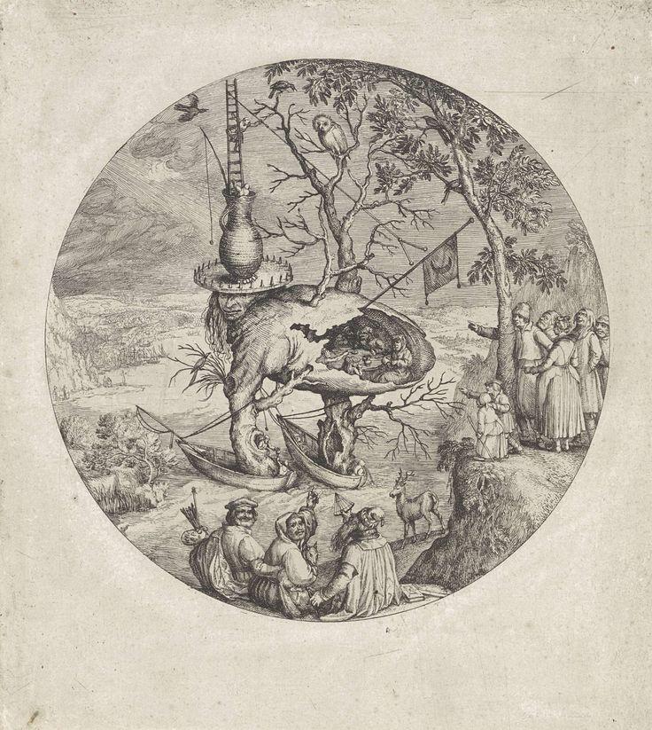 Boommens, anonymous, after Jheronimus Bosch, Pieter Brueghel (I), 1550 - 1575