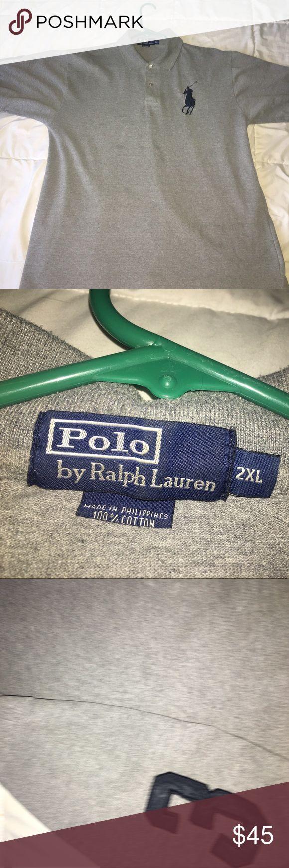Gray Ralph Lauren polo(big pony) Pig pony Ralph Lauren polo.. fits XL Ralph Lauren Shirts Polos