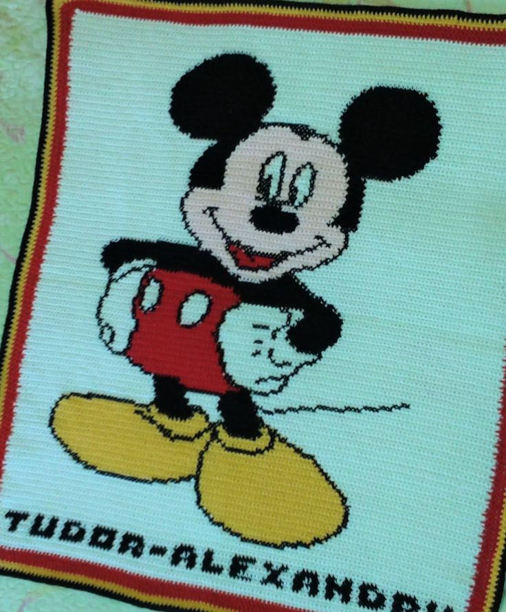 Mickey Mouse Crochet  Blanket