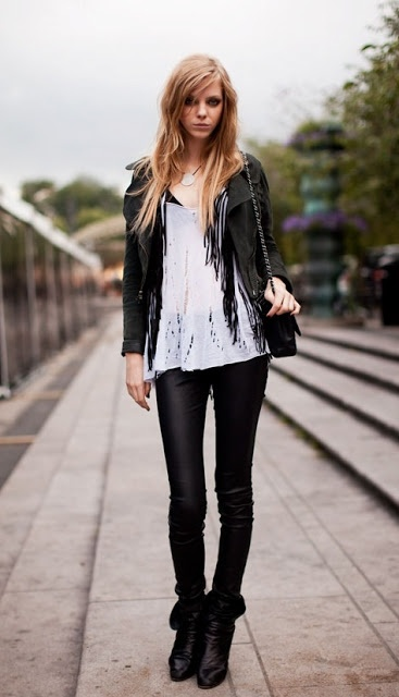 Leather Black White Rock On Rock Fashion The Look Pinterest Teen Fashion Style