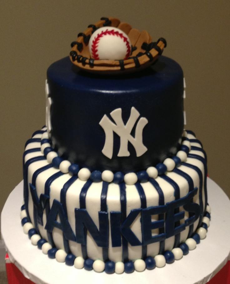 Yankees grooms cake www.kraftykake.com