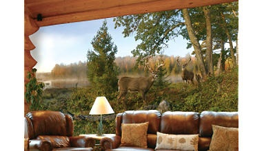 Cabela's -- Wall Murals: Who would not love waking up to this every morning.: Wall Art, Deer Wall, House Ideas, Cabins Decor, Wall Murals, Wall And Ceilings Murals, Neat Ideas, Logs Cabins, Downstairs Ideas