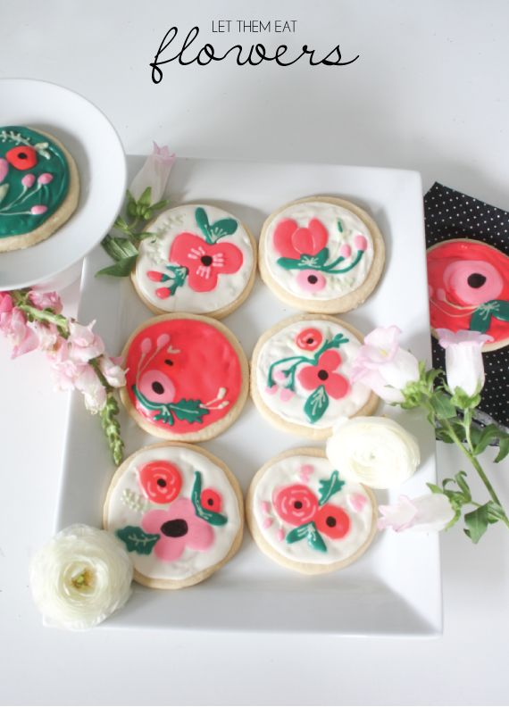 Spring Sugar Cookies: Edible Flowers