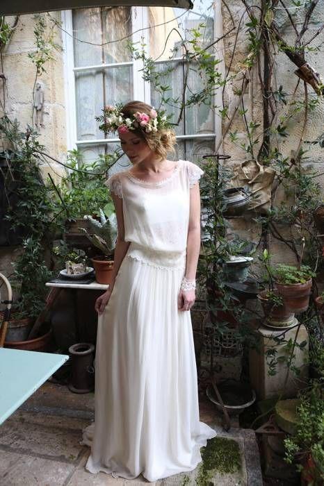 Marjolaine - Sur un air de bohème - Robes de Mariées Paris Elsa Gary