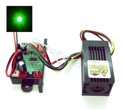 150mW Focusing 532nm Green Laser Module with Thermoelectric Cooling and TTL Modulated 12V Driver