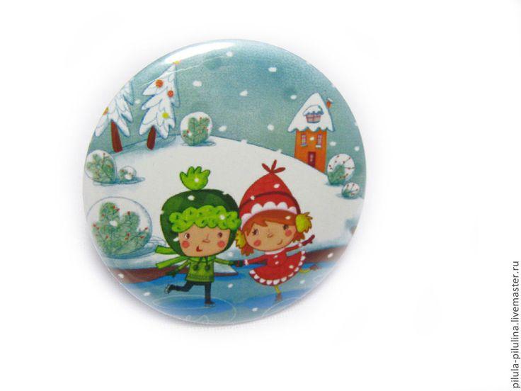 """Купить Зеркальце """"Зимнее """" Подарок на день рождения девочке. Милый сувенир"""