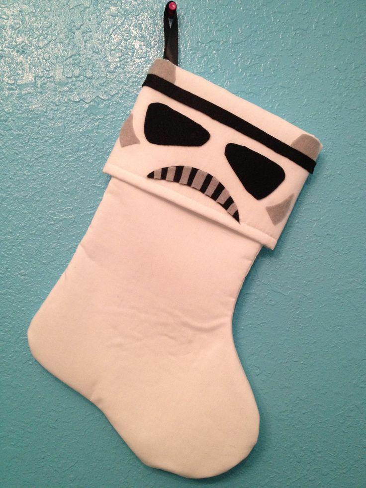 Star Wars Stormtrooper Holiday Christmas Stocking. $25.00, via Etsy.