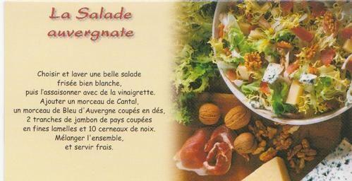 Ma région...l' #Auvergne! La salade auvergnate