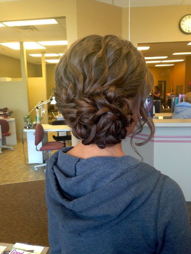 Awesome Medium Brown Homecoming and Prom Hairstyle