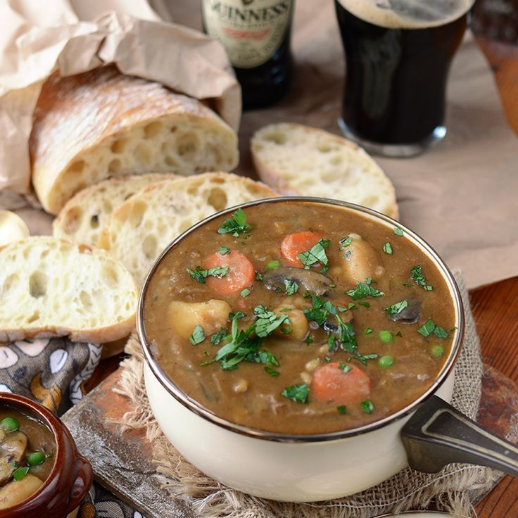 Vegan Guinness Barley Stew - easy, hearty and perfect for dinner!