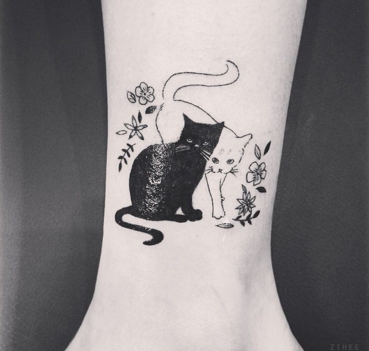cat tattoo omg this is perfect! I would turn it sailor moon theme though ♡