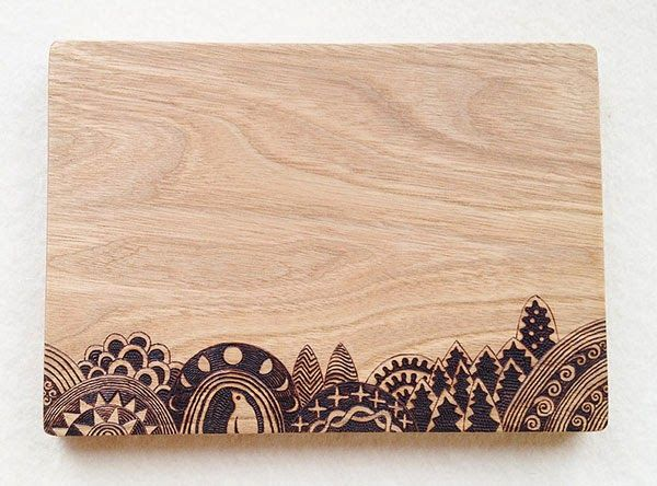 Woodburning Cutting Boards by Tomomichi Suzuki