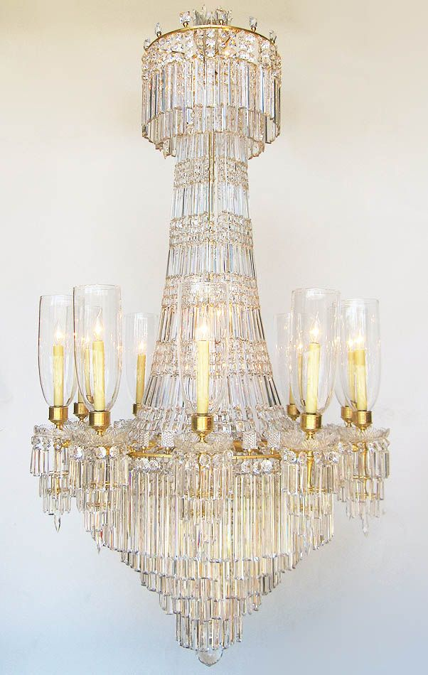 42 best chandelier images on pinterest chandelier lighting fine french century gilt bronze and baccarat crystal eighteen light cascade style chandelier the elongated frame with long rectangular cut glass drops aloadofball Choice Image