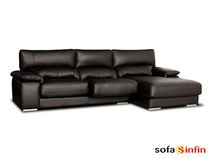 Sofá con chaise longue modelo Dior fabricado por Gamamobel en