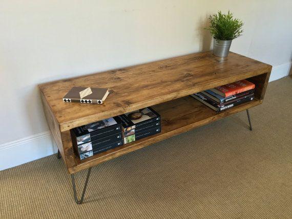 Meuble TV bois rustique Table de salon Table dappoint