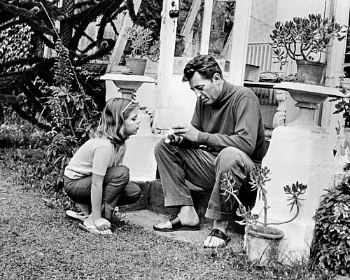 Robert Mitchum with his daughter Trini - this is probably ...