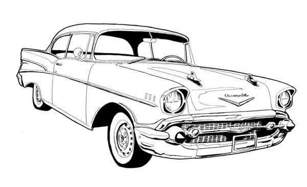 57 Chevy Bel Air Drawing Chevy S 55 57 Pinterest