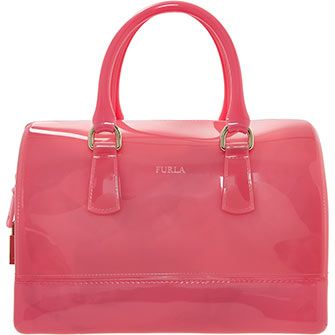 Furla Candy Pink Soft Shell Bowling Bag