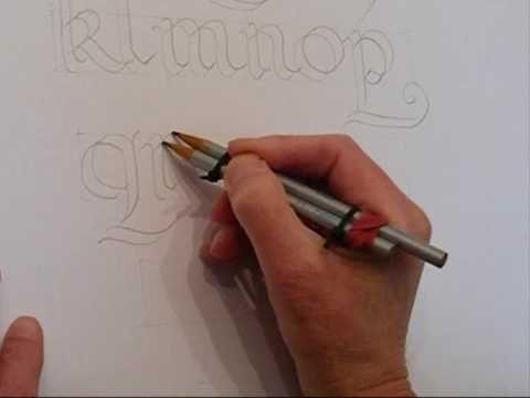como hacer letras dobles
