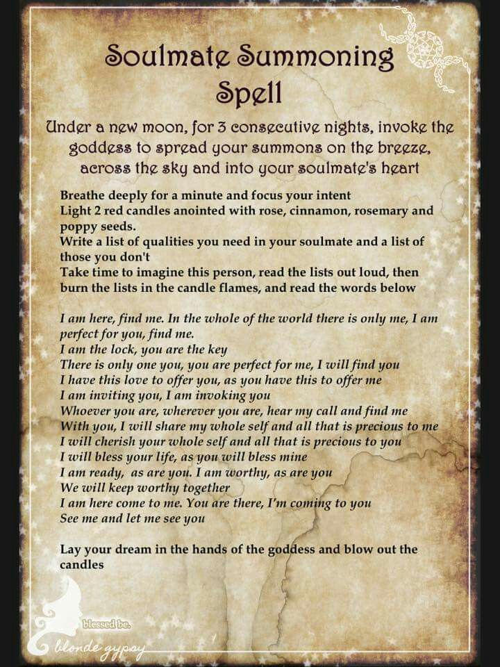 Love Spell - Soulmate Summoning  ~ Blonde Gypsy ~