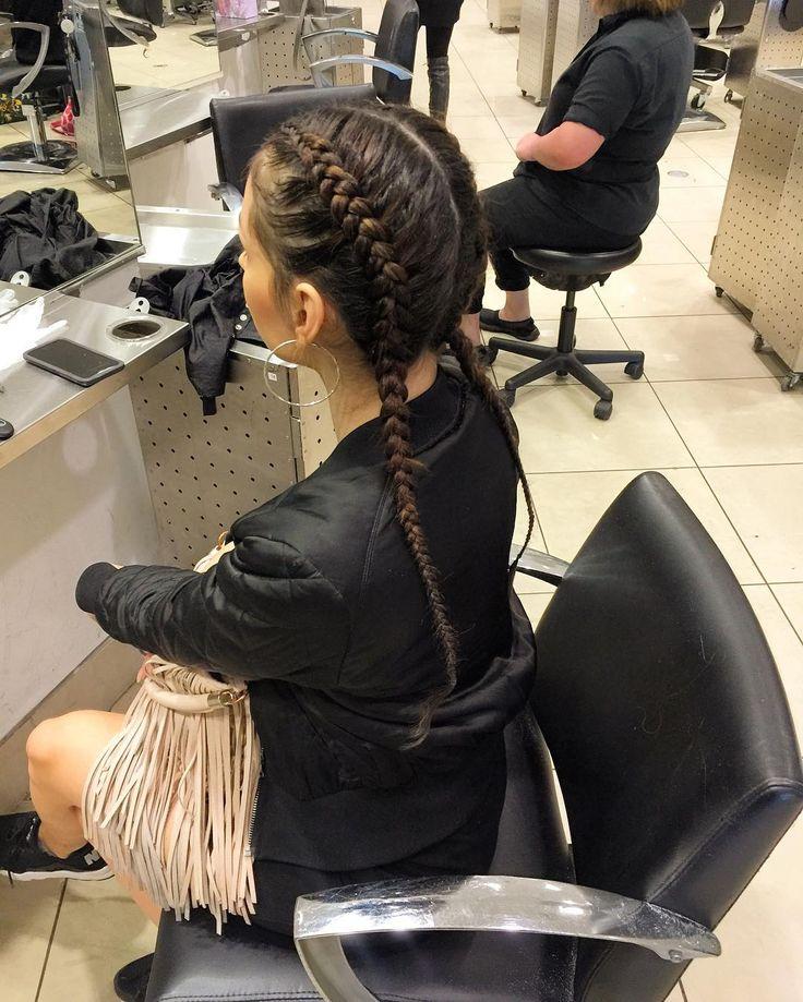 Two Cornrows/ Dutch braids by moi @toniguysamo #Cornrows #DutchBraids #KardashianBraids #KhloeKardashianBraids #khloekardashian #ReeCreations #ReeOnHair #CosmetologyStudent #lahairstylist #BoxerBraids #NyreeMurray by reecreations