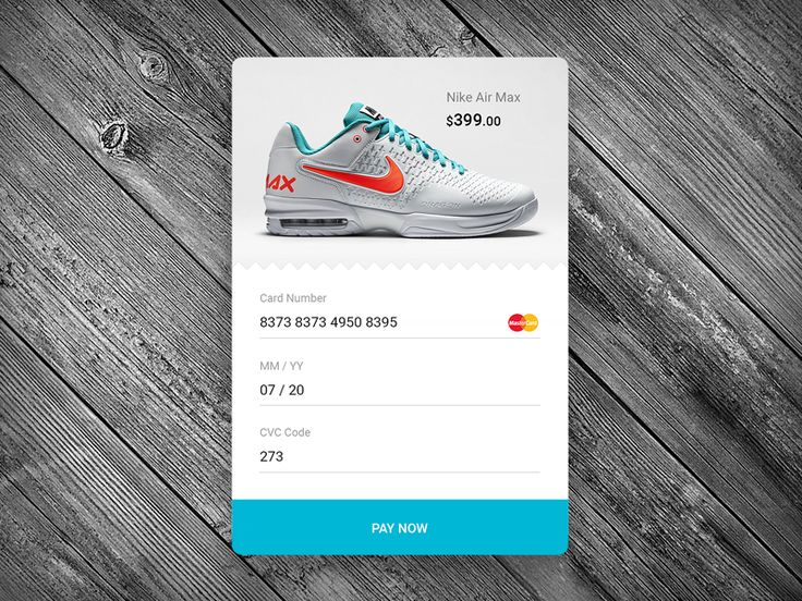 Daily UI #2 - Credit Card Checkout by Alexander Protikhin