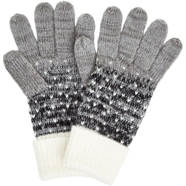 John Lewis Obmre Dotty Gloves (£18) ❤ liked on Polyvore featuring accessories, gloves, dot gloves, john lewis, polka dot gloves and cold weather gloves