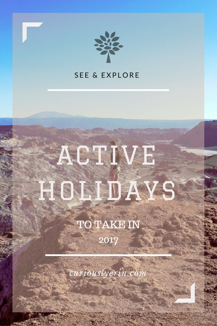 Ideas for active holidays to take next year. From scuba diving with sharks in the Bahamas to rock climbing in Australia. Click for more curiouslyerin.com