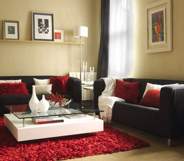 17 mejores ideas sobre decoraci n de sof rojo en for Black white red living room designs