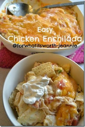 Easy Chicken Enchilada Casserole @Lydia Squire Stewart-jeannie