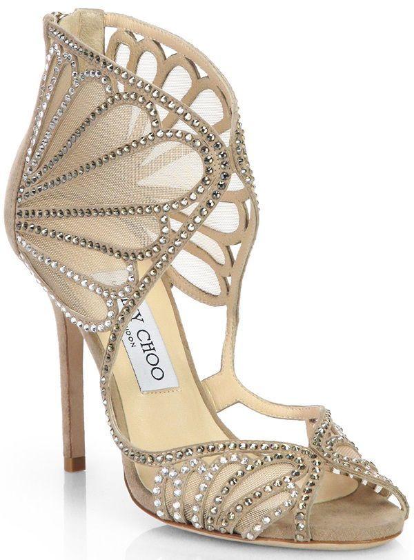 8a66f19bef Jennifer Lopez in KaufmanFranco Dress and Jimmy Choo Glitter Pumps ...