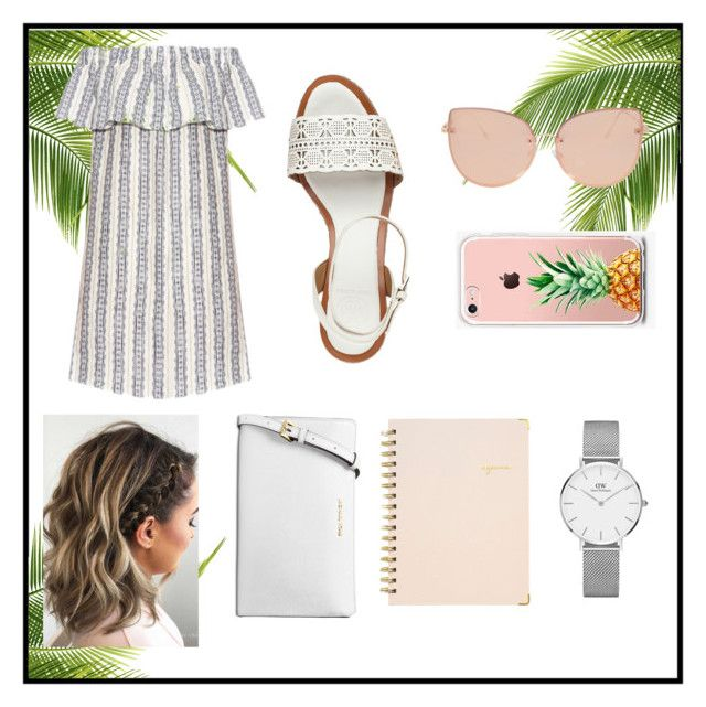 """""""🌴"""" by polyvorefashionxox ❤ liked on Polyvore featuring Tory Burch, Sugar Paper, Daniel Wellington, Topshop, The Casery, Michael Kors and Sea, New York"""