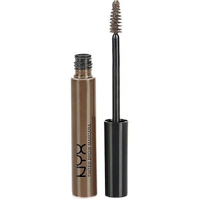 Nyx Tinted Brow Mascara in Espresso. This adds natural-looking color to my brows and some hold. I like it.