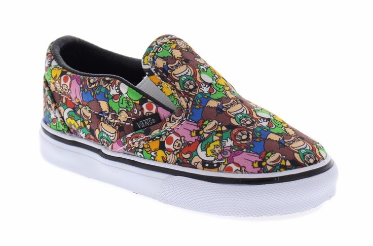 Vans Toddler Classic Slip-On Super Mario Brothers Multi Color Skate Shoes in Clothing, Shoes & Accessories, Baby & Toddler Clothing, Baby Shoes | eBay