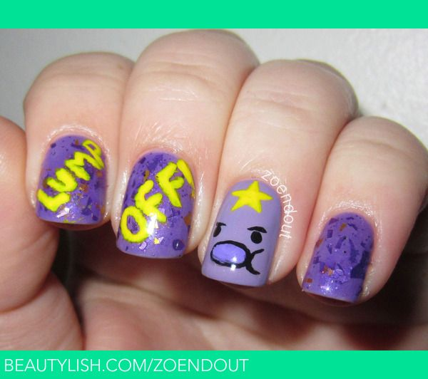 lump-off-lumpy-space-princess-nails.jpg (600×532)