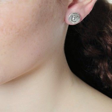 Cute little thistle earrings! BAWBEE COIN STUDS - from £75.