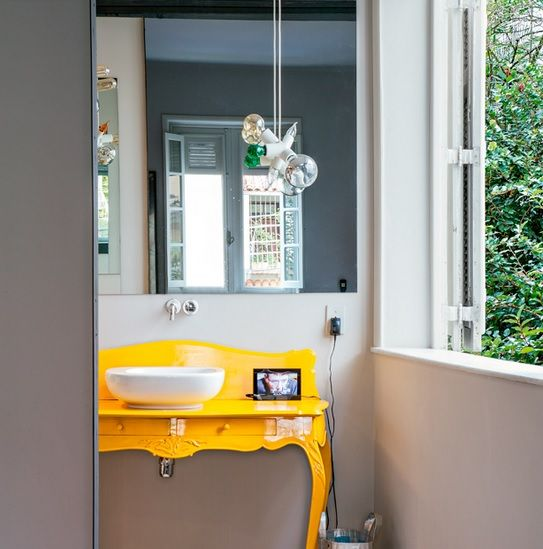 Baño Pintado De Amarillo:Decoracion Gris Y Amarillo