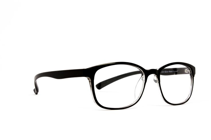Computer Glasses by Phonetic Eyewear Bravo in Black Crystal with Blue Light Protection