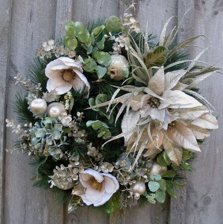 Christmas Wreath, Holiday Designer Décor, Elegant ...
