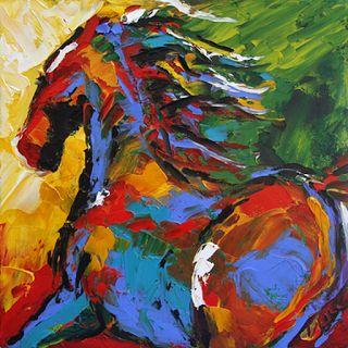 cuadros-caballos-pintados-espatula