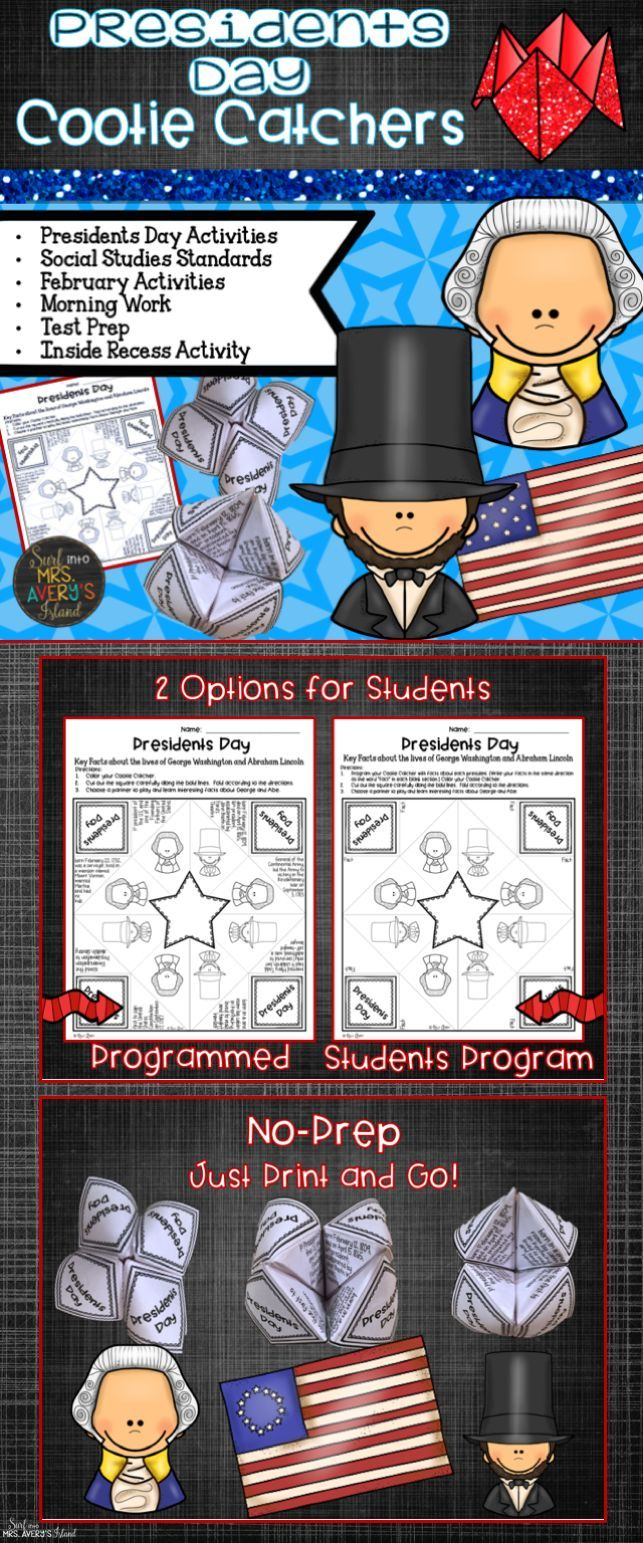 This Presidents Day activity will give your students a hands-on approach as they learn facts about George Washington and Abraham Lincoln!