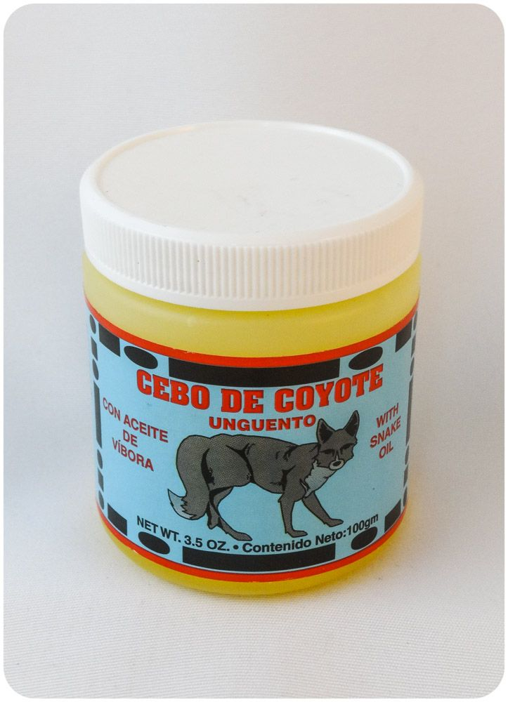 CEBO DE COYOTE  Ointment for stiff joint pain and sore muscles. Relieves sore muscles, aches and pains Fast pain relief from joint and back pain Arthritis pain and heel relief Usada para calmar el dolor muscular Traditional Mexican Remedy