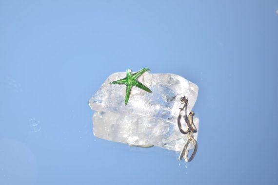 OOAK Quartz with Sterling Silver Green Starfish, Giamouras Collection, Christmas Gift, Black Friday Sale, Cyber Monday €42.00