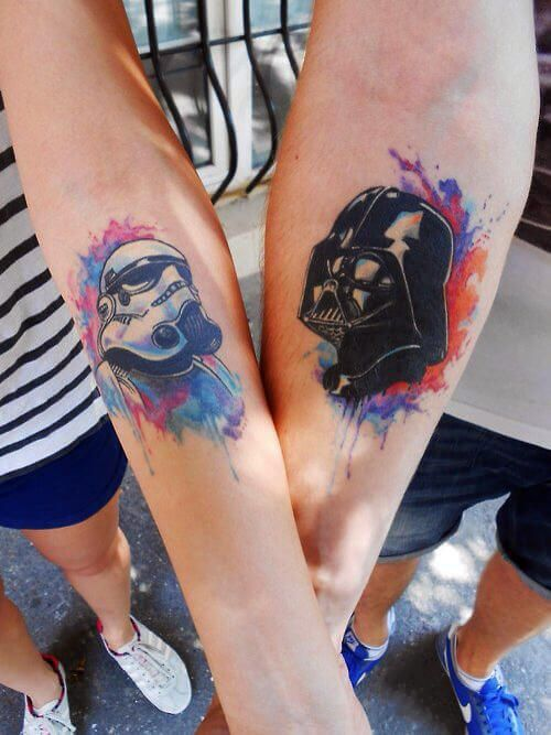 19 best tattoos for men images on pinterest tattoo ideas for Matching star wars tattoos