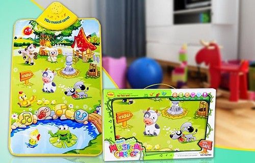 Kids Educational Play Mat with Sounds & Music