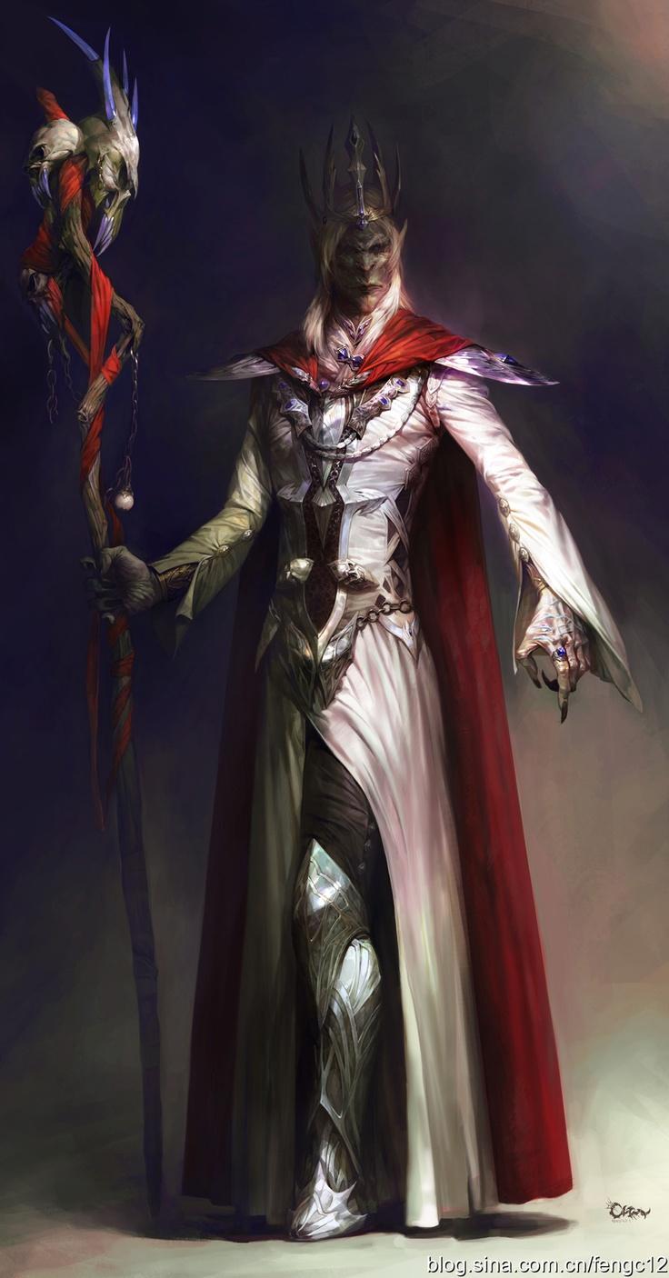 Drow wizard mage sorcerer dark elf old elder