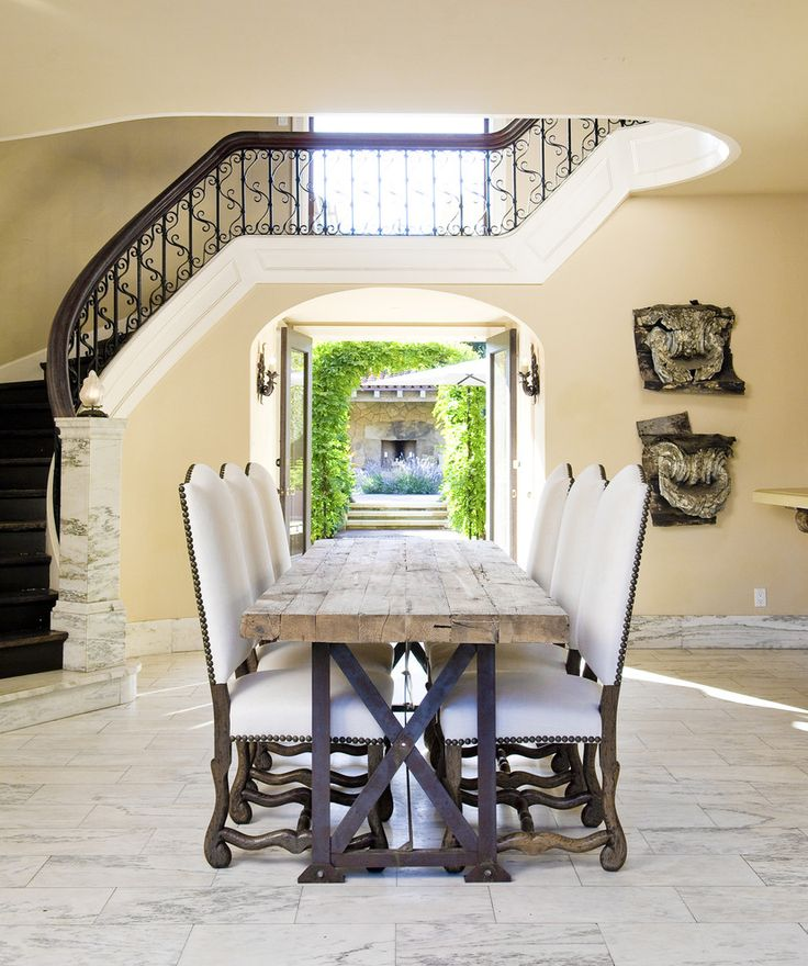 16 Absolutely Gorgeous Mediterranean Dining Room Designs: Santa Barbara