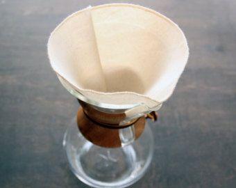 100% algodón orgánico filtros de café reutilizable Chemex 6, 8, 10, 12 tazas estilo--elija su cantidad