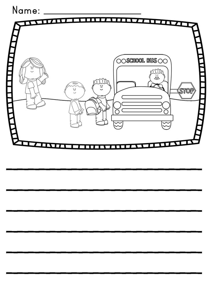 Writing Center Picture Prompts Kids Set Activities