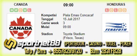 Prediksi Skor Bola Canada vs Honduras 15 Jul 2017 Piala Emas Concacaf di Toyota Stadium (Frisco, Texas) pada hari Sabtu jam 09:00 live di Fox Sports 1
